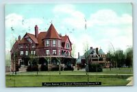 Elmira, NY - c1909 STREET SCENE - MAPLE AVE & BRAND HOMESTEAD - POSTCARD