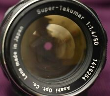Asahi PENTAX Super-Takumar 50mm f/1.4 /8 ELEMENT/ SUPER CLEAN /49MM CLOUDY FLTR