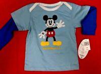 Mickey Mouse Walt Disney World Blue Infant Shirt Size 24 month