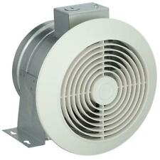 Exhaust Fan 60 Cfm Ceiling Mount Galvanized Steel Round White Polymeric Grille