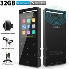 32GB Bluetooth MP3 Player with FM Radio/ Voice Recorder, 60 Hours Playback, L...