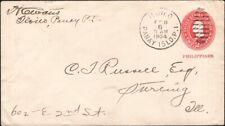 PHILIPPINES, 1904. Cover U8. Iloilo - Sterling, IL
