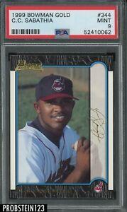 1999 Bowman Gold C.C. Sabathia Indians RC Rookie PSA 9 POP 2 None Higher
