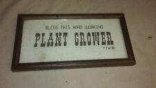 """New listing Framed """" Bless This Hard Working Plant Grower"""" Crochet Folk Art"""
