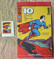 Canada 1995 Booklet Comic Book Superheroes, Plus Non-Cancelled Superman Stamp!