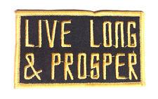 "Star Trek ""Live Long & Prosper"" Logo  3.5"" Embroidered Patch-USA Maile(STPAT-54)"