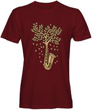 Tree Saxophone Graphic T-Shirt