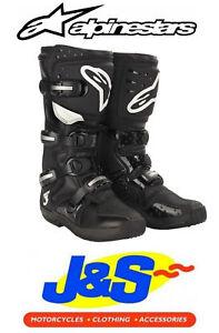 Alpinestars Tech 3 Motocross Boots Motorcycle Moto-X Off-Road MX MotoX Black J&S