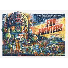 Foo Fighters Poster Murrayfield Stadium Edinburgh, Uk 9/8/15