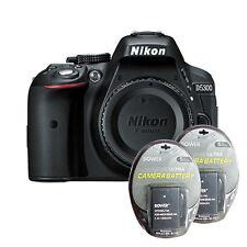 Nikon D5300 Digital SLR Camera Body 24.2 MP + 2 Backup Batteries