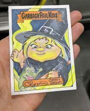 Garbage Pail Kids Cathy Razim Sketch Card Halloween Witch Caldron