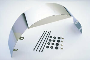 """3"""" Chrome Universal Fan Shroud with attaching hardware Radiator Cooling safety A"""