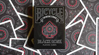 BLACK ROSE BICYCLE DECK OF PLAYING CARDS BY USPCC MAGIC TRICKS GAMES COLLECTOR