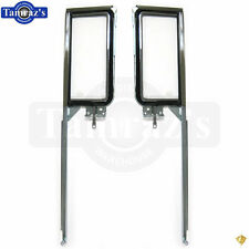 55-57 Chevy CONVERTIBLE Door Vent Glass Wing Window Frame ASSEMBLY - PAIR