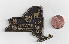 "NEW YORK  ""THE EMPIRE STATE""   NY STATE OUTLINE MAP MAGNET,  NEW"