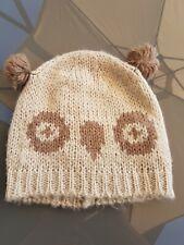 WOMENS NEXT OWL BOBBLE HAT