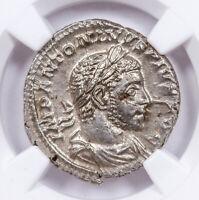 AD 218-222 Roman Empire Silver Denarius of Elagabalus NGC MS SKU57092