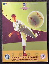 2000 American League Championship Series Program VF- 7.5 Yankees vs Mariners