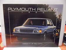 catalogue PLYMOUTH RELIANT - 1985