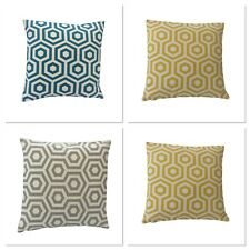 GEOMETRIC HEX MULTI LISTING HAND MADE DECORATIVE CUSHION COVERS