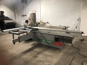 ALTENDORF _ F92 Table Saw And Dust Extractor Vacuum. Good Condition.