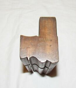 wooden moulding plane by Griffiths Norwich woodworking tool wide woodworking