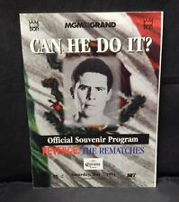 Julio Cesar Chavez Vs Frankie Randall Program Can He Do It 1994 Rematches Corona