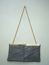 Vintage 1970s clutch/chain handle bag GC