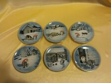 Harald Wiberg Bing & Grondahl Set of 6 Gnome Mini Collector Plates Excellent