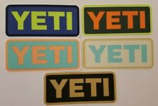 YETI Stickers Decals Lot Five (5) Multi-Color Genuine Authentic Cup Mug Cooler