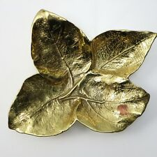 New ListingVirginia Metalcrafters Brass Leaf Bowl Coleus Calavo 4-33 Oskar J W Hansen 1963