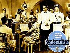Movie film Casablanca Classic GUERRA dramma BOGART USA BELLE ARTI POSTER cc3348
