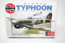 Airfix 1/72 scale Hawker Typhoon WWII aircraft