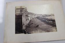 GA34 Vecchia Stampa-Foto- Old Print 1120-Riviera di Chiaja-Napoli G.Sommer