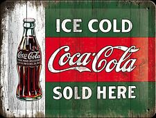 Coca Cola Ice Cold Sold Here small metal sign   (na 2015)