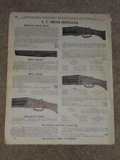 1940 L.C. Smith Shotguns Ideal Grade Skeet Price List Ad Catalog Page