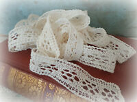 antique vintage lace trim Victorian sewing notions handmade - 4 yards!