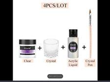 Acrylic Powder & Liquid Pro 4 Piece Set With Brush