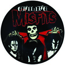 """MISFITS EVILIVE VINYL STICKER  100MM ROUND 4"""" MORE LISTED FAST SHIPPING PUNK"""
