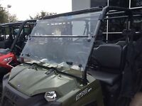 POLARIS RANGER 570  FULL SIZE 3/16 POLYCARBONATE FOLD DOWN WINDSHIELD 2016-2020