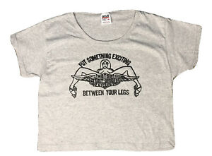 Vintage Gray Anvil Cropped T-shirt With Classic Harley Davidson Print Medium 90s