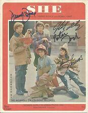 THE MONKEES Signed Autograph Sheet Music Nesmith Davy Jones Tork Dolenz JSA LOA