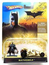 2005 Hot Wheels Batman Begins Batmobile 1:64 Scale Diecast Car and Figure New!
