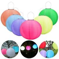 12in Waterproof LED Solar Cloth Chinese Lantern Festival Party Yard Hanging Lamp