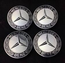 4x für Mercedes-Benz Nabenkappen Nabendeckel Felgenkappen Logo AMG 75mm Blau