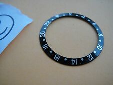 VINTAGE USED ROLEX BLACK  BEZEL INSERT FOR GMT MASTER REF 16710 with sapphire