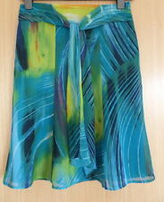 Per Una Ladies Skirt 10 Floaty Blue Party Summer Holiday Smart M&S  (rd)