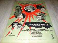 ADORABLE VOISINE ! james stewart affiche cinema 1958