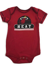 NBA Miami Heat Basketball Babys All in One Bodysuit w/ Snaps Red Unisex 18M NWOT