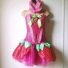 Leg Avenue Medium Sexy Strawberry Shortcake Cosplay Halloween Dress Pink w Hat